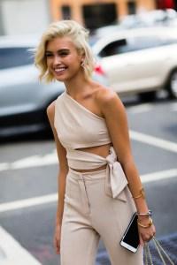 Sarah Ellen - New York Fashion Week - Carré court décoloré