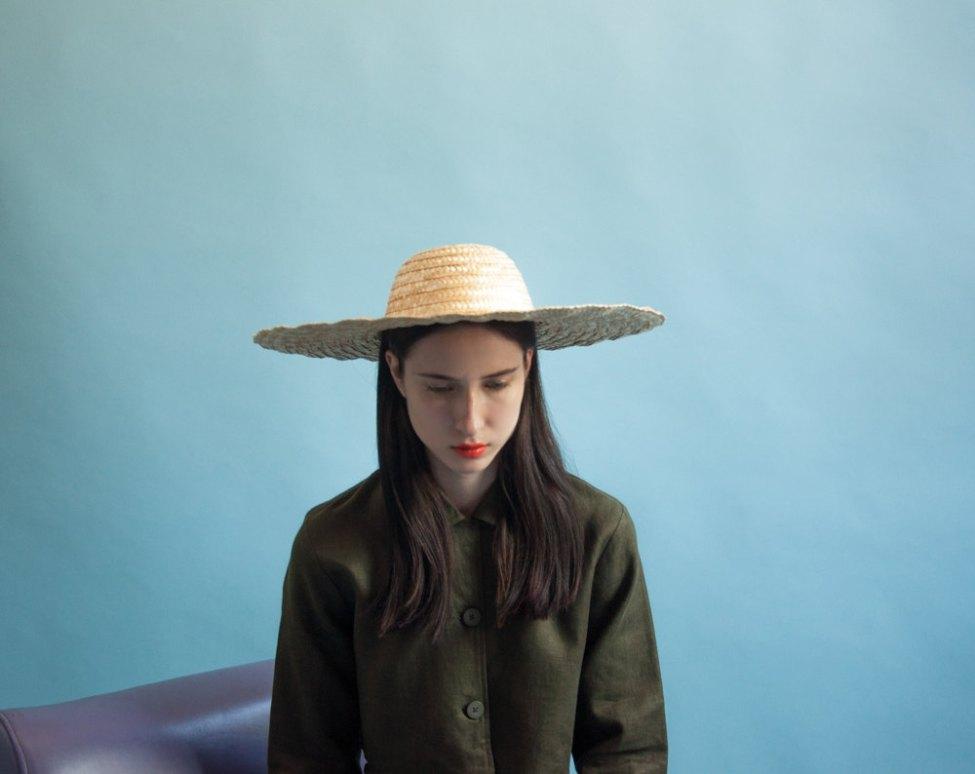 chapeau de paille / bords large chapeau / plage chapeau / 1250a