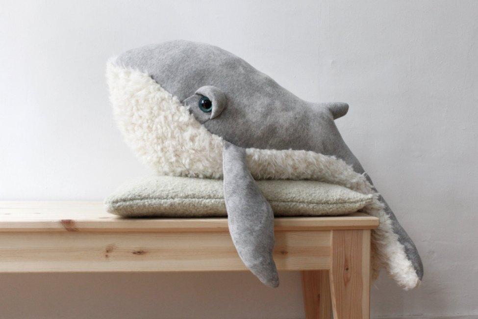 Grand Baleine Papy Peluche Doudou