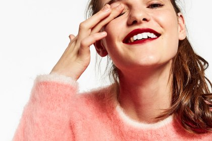 Pull en mohair rose - Zara