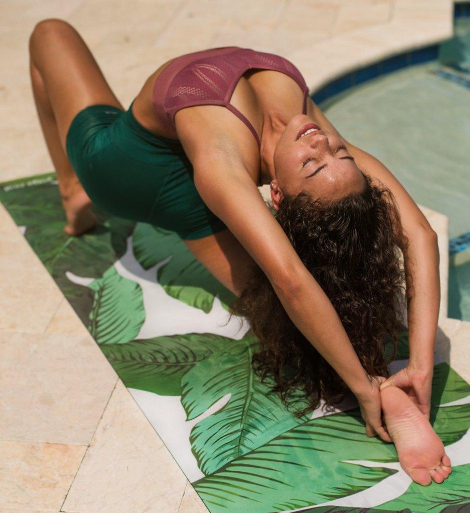 Tapis de Yoga de feuille de bananier / Yoga / Yoga Mats / cadeau pour elle / imprimé tapis de Yoga / idée cadeau / accessoire de Yoga / cadeaux Yoga / Yoga cadeau / cadeau