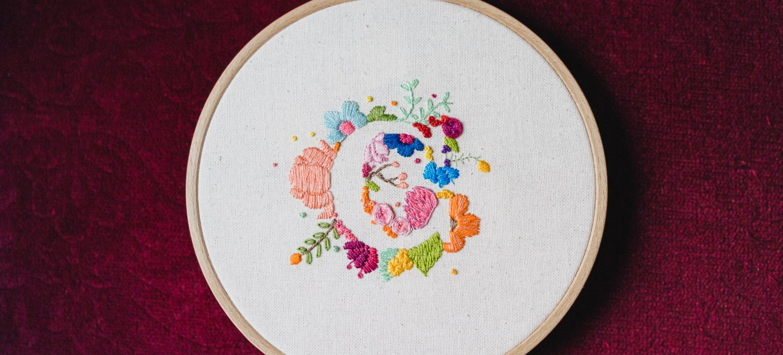abécédaire fleuri lettre C