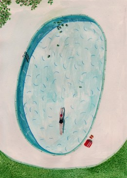 Swimming Pool Drawing by Lizzy Stewart