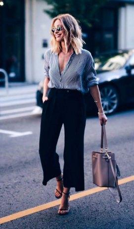 Streetstyle - jupe culotte et chemise