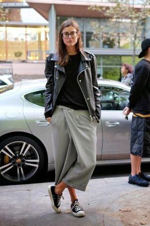 Streetstyle - pantacourt jupe culotte