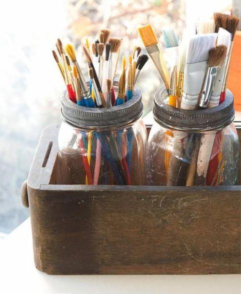 Maison jar - Bureau - Porte crayons