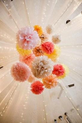 Pompons multicolors
