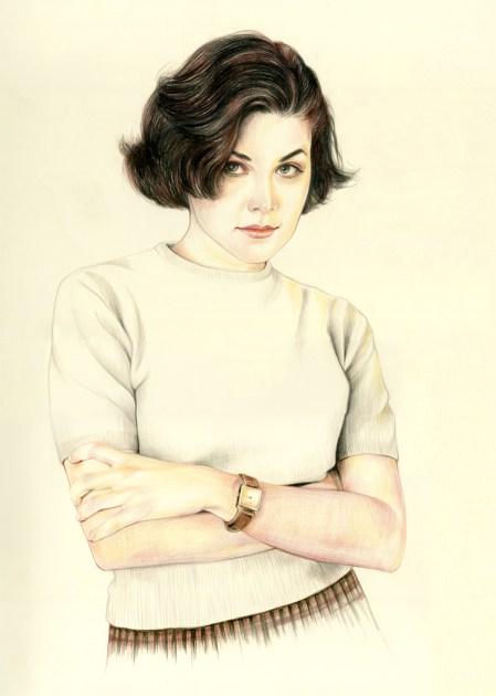 Dessin Twin Peaks Audrey Horne