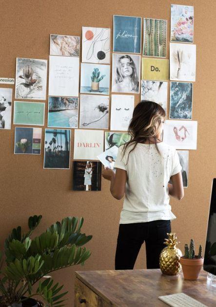 Moodboard sur un mur