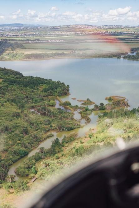Hélicoptère - Maurice vue du ciel