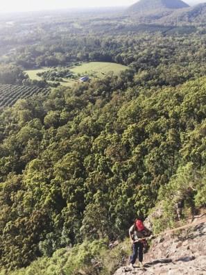 Descente en rappel - Glass House Mountains - Australie
