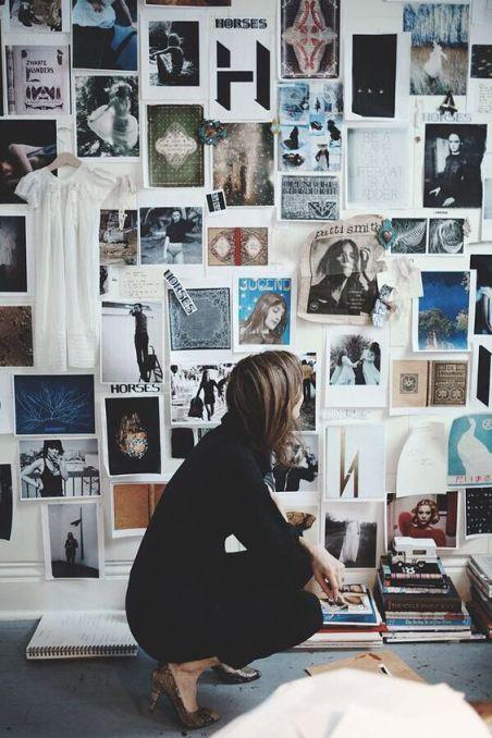 Moodboard géant sur un mur - Bureau