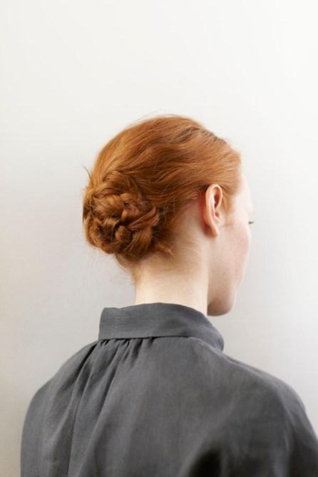 Chignon tressé - Cheveux roux
