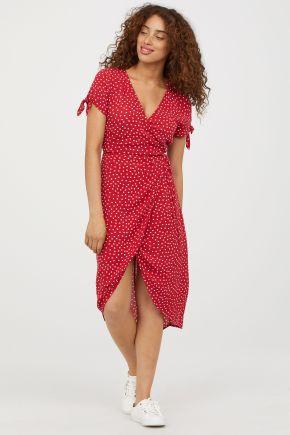 Robe rouge à pois portefeuille H&M