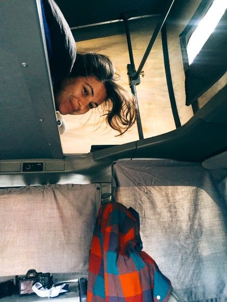 Dormir dans un van California Volkswagen
