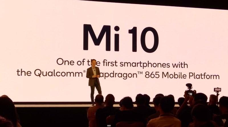 Tecnologia  news Xiaomi MI 10 5G con Snapdragon 865 di Qualcomm