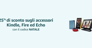 Tecnologia  news Amazon: come avere uno sconto del 25% su accessori Echo, Kindle e Fire