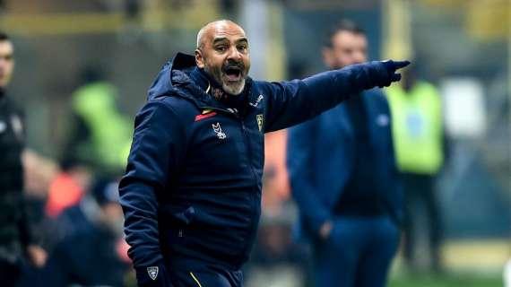 """Lecce, Liverani in conferenza: """"Quasi impossibile a Napoli, ma sarà fantastico. Due indisponibili…"""""""