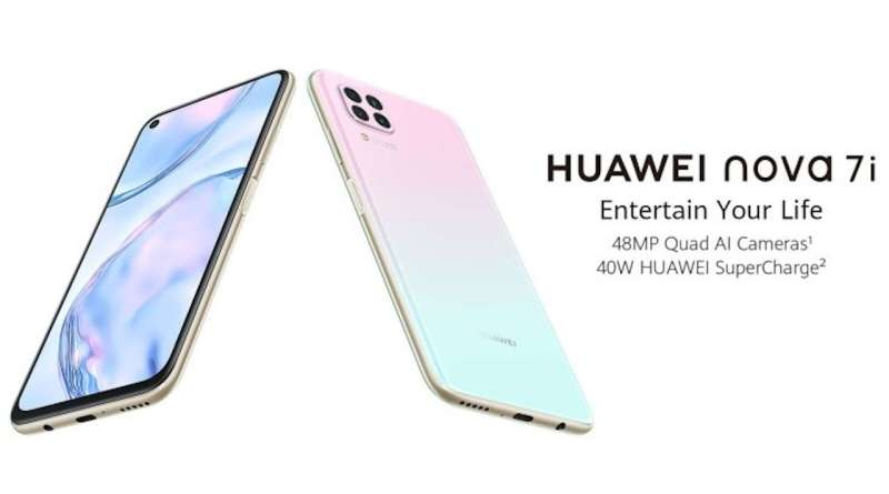 Huawei Nova 7i ufficiale: Kirin 810, quad camera e ricarica 40W