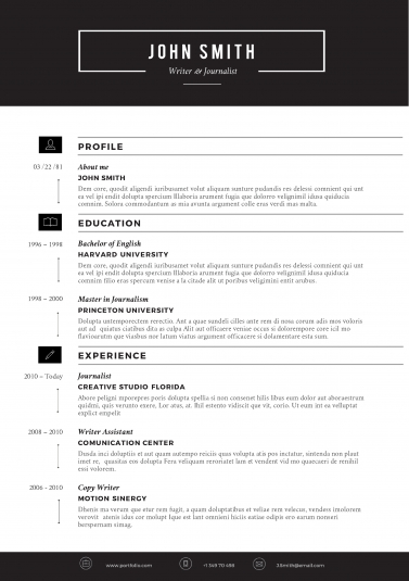 modern sleek resume template