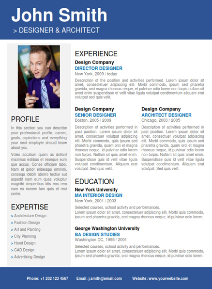 change the picture in the blue grey resume template
