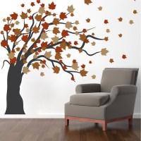 Autumn Spring Tree Wall Decal | Fall Tree Murals | Sprint ...