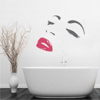 Modern Face Wall Decals _ Trendy Wall Designs