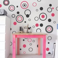 Circular Rings & Dots Wall Decals - Trendy Wall Designs