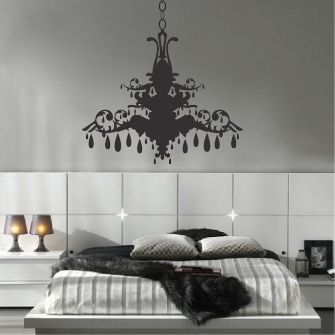 Chandelier Wall Art Sticker Zoom