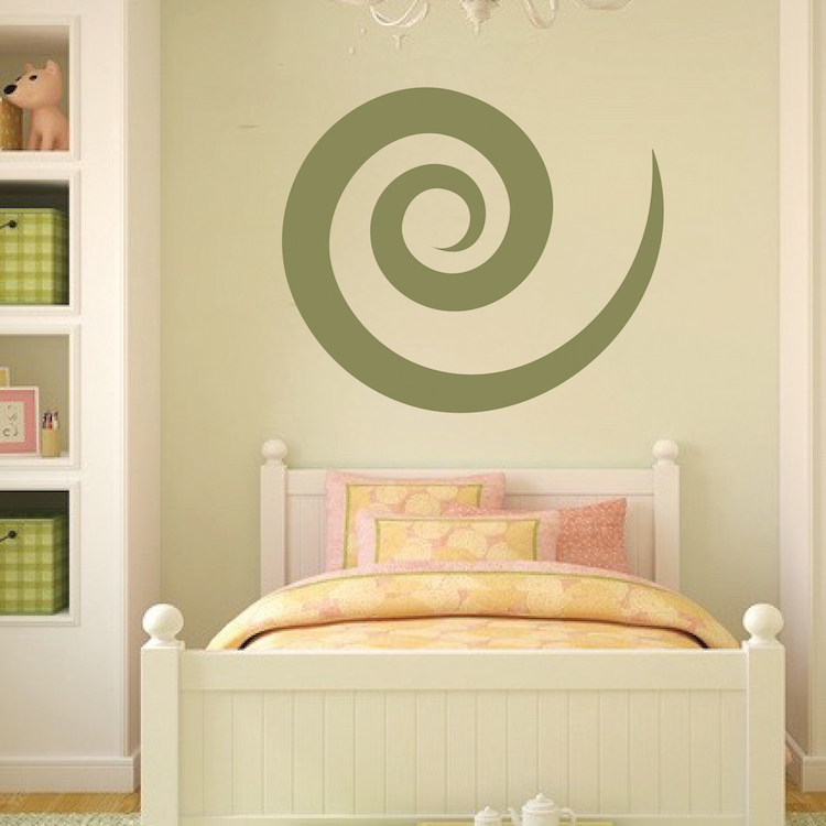 Cinnamon Swirl Wall Decal