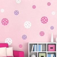 Modern Polka Dot Dots Wall Designs | Trendy Wall Designs