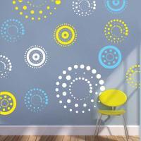 Circling Dots Wall Decals - Trendy Wall Designs