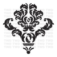White Damask Wall Decals | www.imgkid.com - The Image Kid ...
