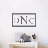 Custom Monogram Wall Decal - Personalized Names for The ...
