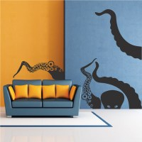 Large Octopus Vinyl Wall Decal Mural | Trendy Wall Designs
