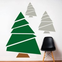 Paper Tree Mural Decal - Christmas Tree Decals - Self ...