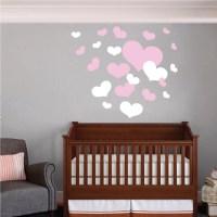 Nursery Room Heart Wall Decals   Trendy Wall Designs