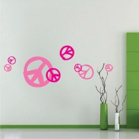 Peace Sign Wall Decals - Trendy Wall Designs
