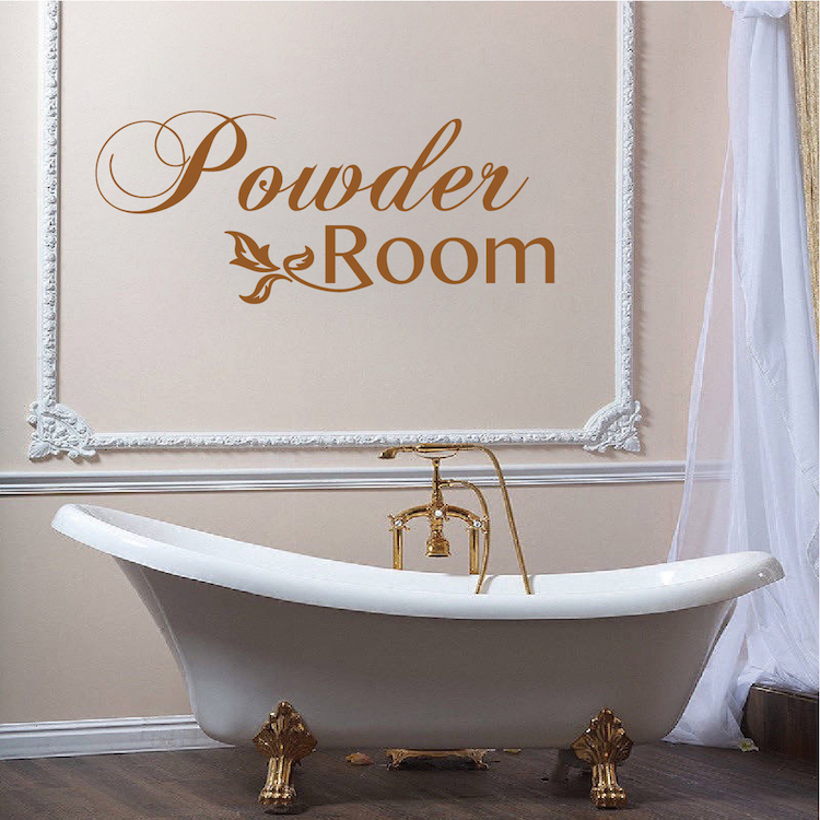 Powder Room Vinyl Decal Sticker From Trendy Wall Designs