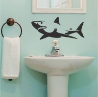 Shark Wall Decal Sticker _ Removable Shark Decals _ Large ...