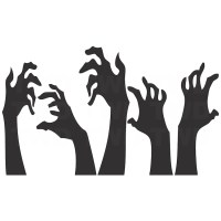 Zombie Hands Halloween Decal Stickers - Halloween Zombie ...