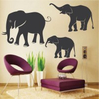 African Elephant Wall Decals & Wall Murals From Trendy