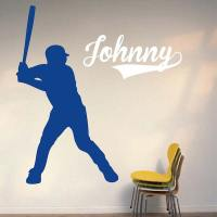 Baseball Player Wall Decal | Trendy Wall Designs
