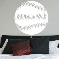 Baseball Fielder Action Wall Decal - Trendy Wall Designs