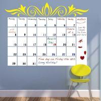 Dry Erase Calendar Wall Decal | Trendy Wall Designs