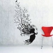 abstract tree hair wall decal