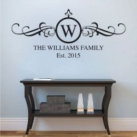 Family Surname Wall Decal Applique _ Trendy Wall Designs