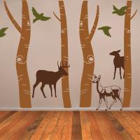 Birch Tree Trunk Wall Designs |Birch Tree Wallpaper | Tall ...