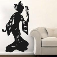 Geisha Wall Decal & Asian Wall Art