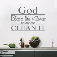 Kitchen Wall Saying Decal - Trendy Wall Designs